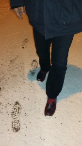 Belleggia-Spuren im Erdinger Schnee