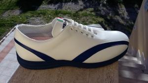 Präsidenten-Schuh: Herren, Mojito Weiß-Blau