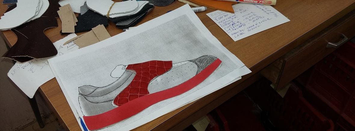 Von der Zeichnung zum fertigen Schuh