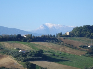Schnee auf den Monti Sibillini