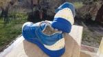 """Hüft-Schuh: Damen, """"Mut zur neuen Hüfte""""-Blau mit TEP FIT-Schriftzug hinten"""