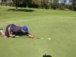 Und natürlich spielt der Hcp.9-Golfer und Spaßvogel auch mit.
