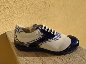 Zebra Silvia-Style mit Blau glänzend