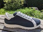 39,5 und 41,5 Golf Sneakersform Blu-Bianco, Stoff